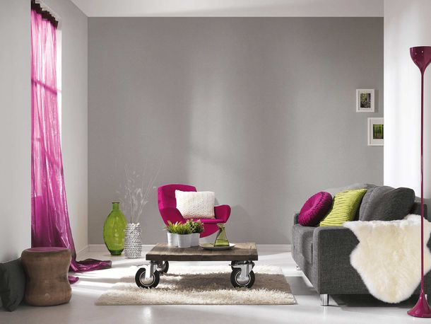 Vliestapete Uni Textil-Optik silber Metallic 36932-3 online kaufen
