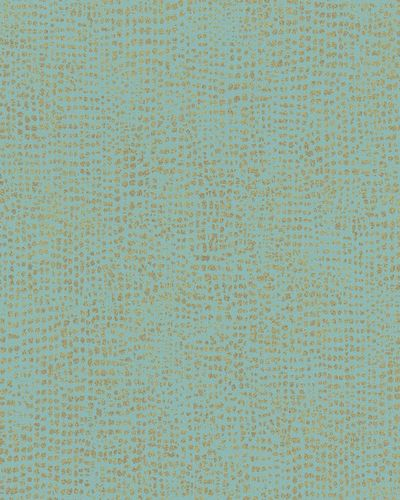 Tapete Vlies Gepunktet blau gold Metallic 31305