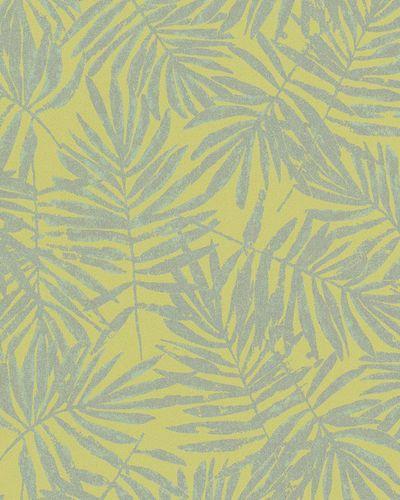 Tapete Vlies Blätter grüngelb silber Metallic 31317 online kaufen