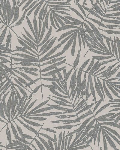 Non-Woven Wallpaper leaves cream beige metallic 31318