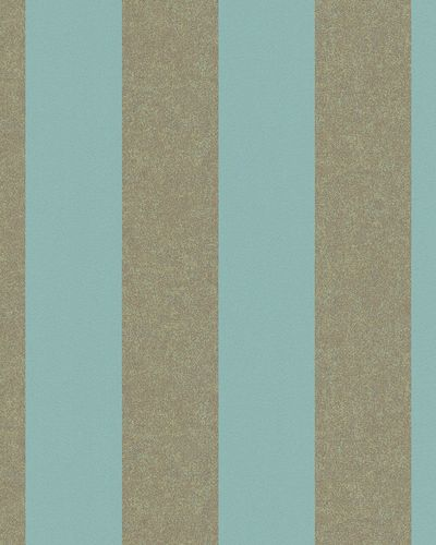 Non-Woven Wallpaper stripped blue gold metallic 31326