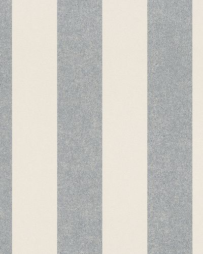 Non-Woven Wallpaper stripped cream metallic 31327