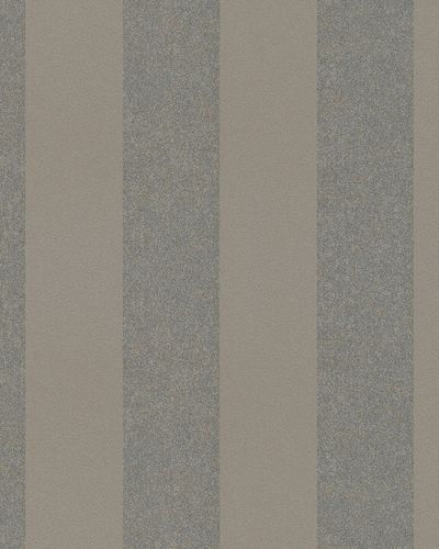 Non-Woven Wallpaper stripped brown metallic 31328