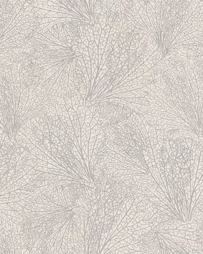 Non-Woven Wallpaper leave pattern cream metallic 31334