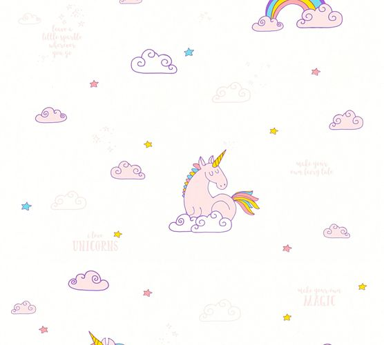 Kids Wallpaper Unicorns Magic white rose 36158-1 online kaufen
