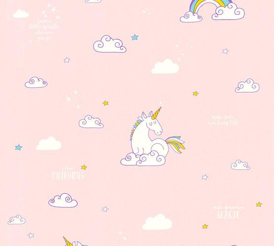 Kindertapete Einhorn Wolken rosa weiß 36158-2 online kaufen