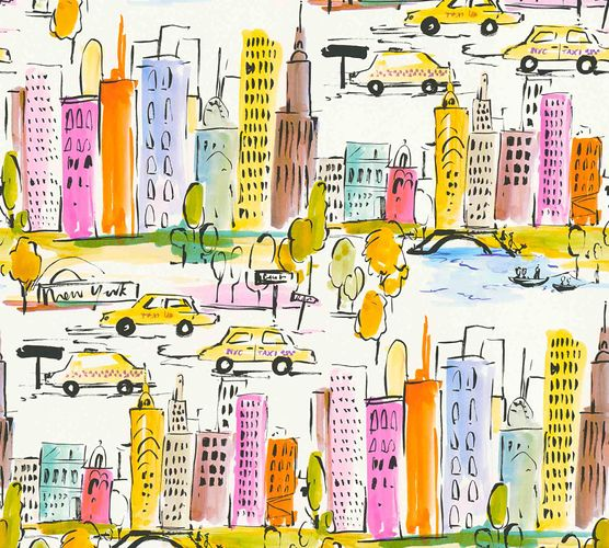 Kids Wallpaper New York City white colourful 36753-1 online kaufen