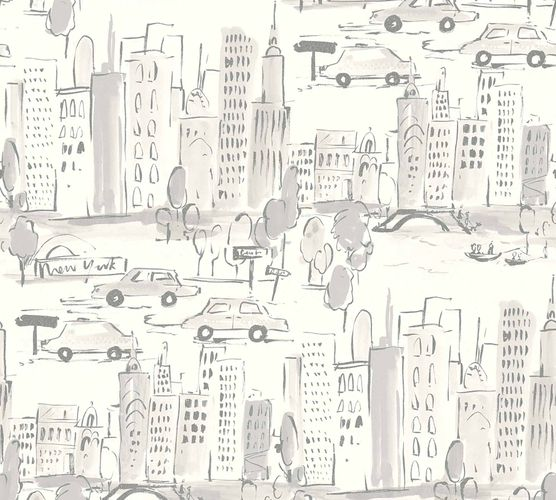 Kids Wallpaper New York City silver Metallic 36753-3 online kaufen
