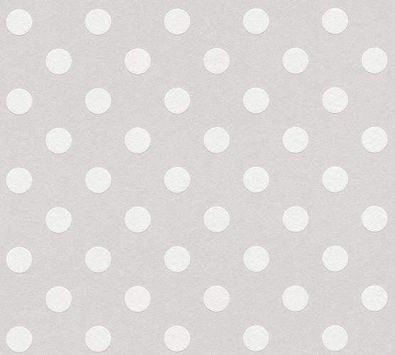 Kindertapete Gepunktet grau weiß 36934-2 online kaufen