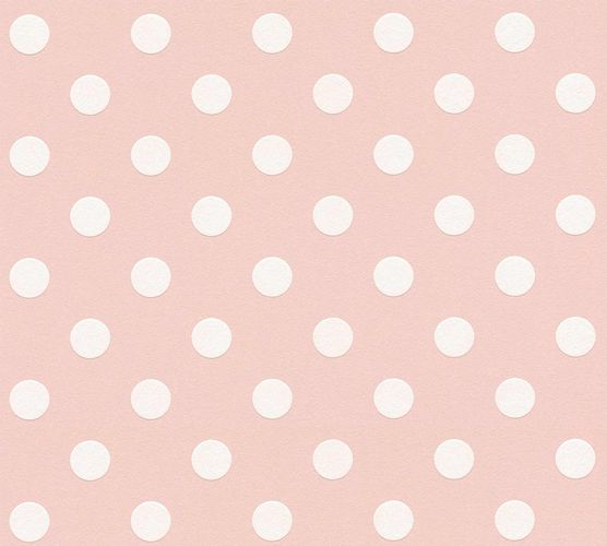 Kindertapete Gepunktet rosa weiß 36934-3 online kaufen