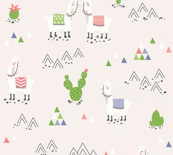 Kindertapete Kaktus Lamas hellgrau bunt 36985-3 online kaufen