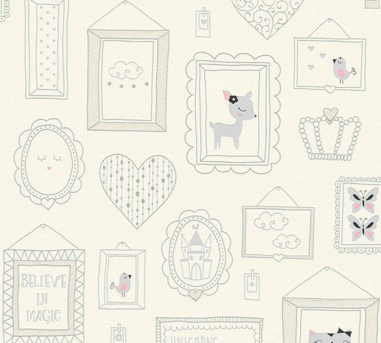 Kids Wallpaper Collage Cat Doe white grey Glitter 36991-1 online kaufen