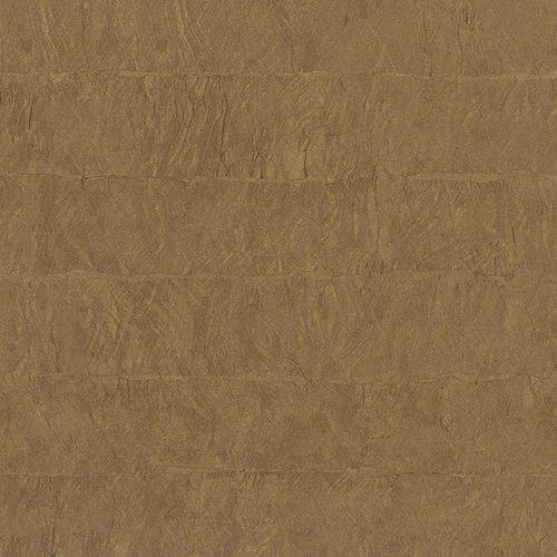Vliestapete Stein-Optik braun gold Metallic 83946