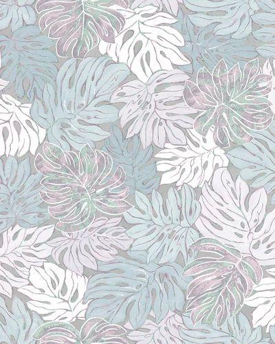Tapete Vlies Blätter blau metallisch Casual 30435 online kaufen