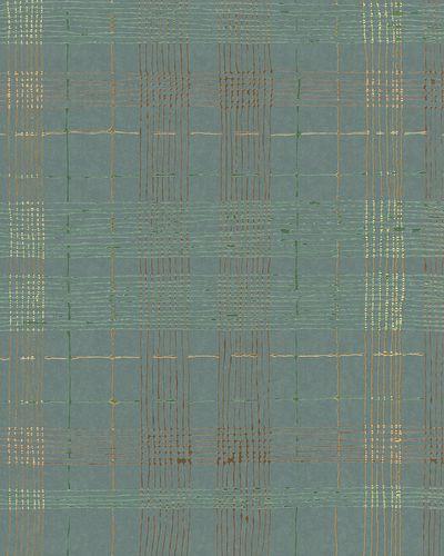 Non-Woven Wallpaper Squares blue green metallic 30437 online kaufen