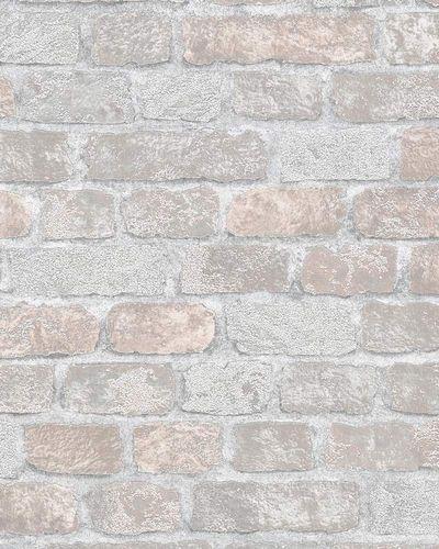 Non-woven Wallpaper Stone Wall Granulate grey rose online kaufen
