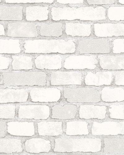 Vliestapete Steinmauer 3D Granulat weißgrau Brique 58412 online kaufen