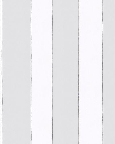 Kindertapete Breite Streifen grau weiß Jonas Kötz 31101 online kaufen