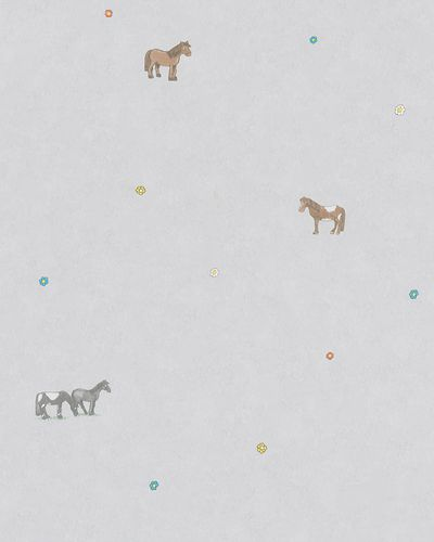 Kids Wallpaper Horses grey colourful Jonas Koetz 31112 online kaufen