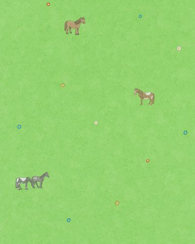 Kids Wallpaper Horses green brown Jonas Koetz 31113 online kaufen