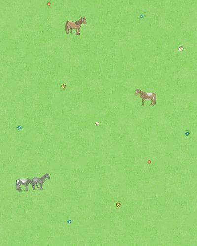 Kindertapete Pferdewiese grün braun Jonas Kötz 31113 online kaufen