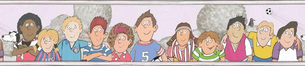 Kids Border Football colourful pink Jonas Koetz 46513