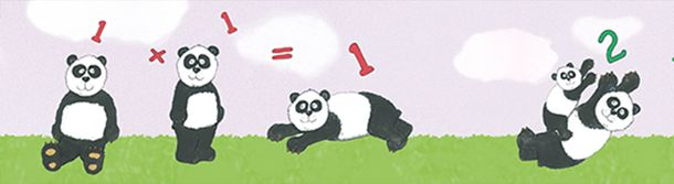 Kinderbordüre Panda Zahlen rosa grün Jonas Kötz 46518 online kaufen