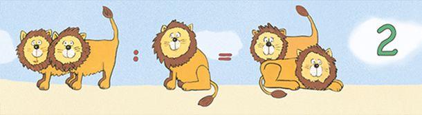 Kids Border Lions Numbers blue brown Jonas Koetz 46521