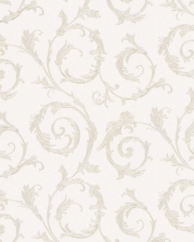 Non-Woven Wallpaper Ornament white Gloss Marburg 30610