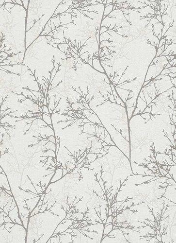 Tapete Vlies Strauch Floral weiß beige Glanz 5432-38 online kaufen
