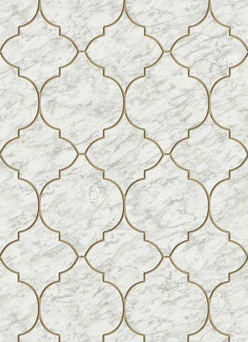 Non-Woven Wallpaper Marble Graphic grey Glitter 6391-10 online kaufen