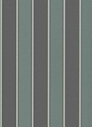 Vinyl Wallpaper Block Stripes grey green grey Gloss 6377-18 online kaufen