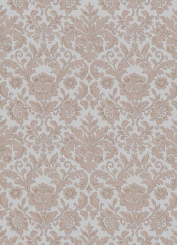 Vinyl Wallpaper Baroque Floral Textile grey brown 6378-31 online kaufen