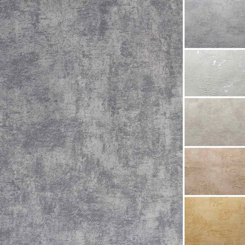 Non-woven wallpaper concrete plaster stone vintage used online kaufen