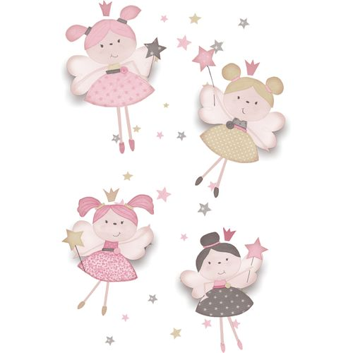 Kids Wallpaper fairies stars white pink Babylandia 005404 online kaufen