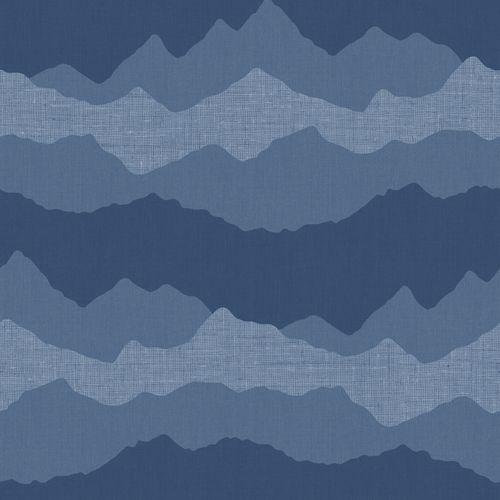 Tapete Kinder Berg dunkelblau 005419