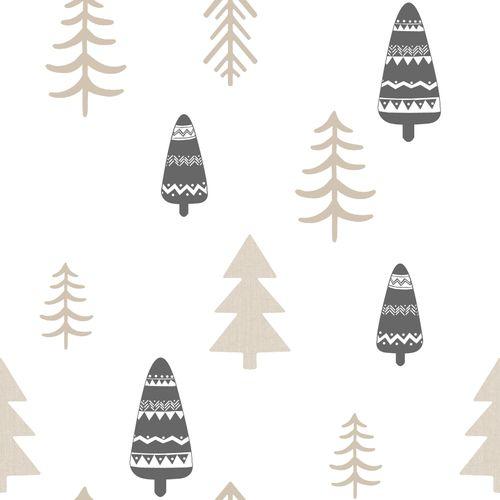 Tapete Kinder Baum weiß beige Glanz 005465 online kaufen