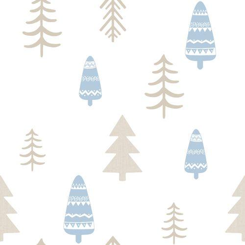 Tapete Kinder Baum weiß hellblau Glanz 005466 online kaufen