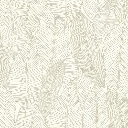 Non-Woven Wallpaper Leaves Abstract grey white 139009 online kaufen