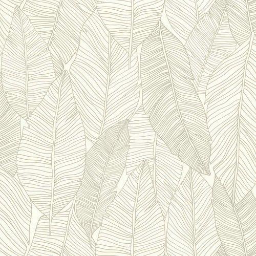 Vliestapete Blätter Linien grau weiß Jungle Fever 139009 online kaufen