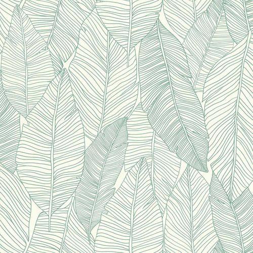 Vliestapete Blätter Linien weiß grün Jungle Fever 139010 online kaufen