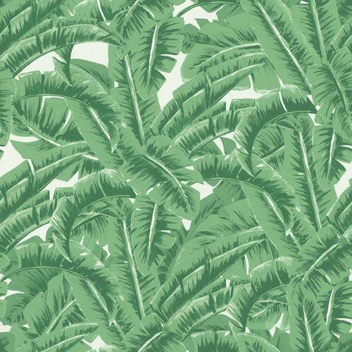 Non-Woven Wallpaper Leaf Jungle green white 138984 online kaufen