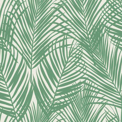 Vliestapete Textil Farnblätter grün grau 139007 online kaufen