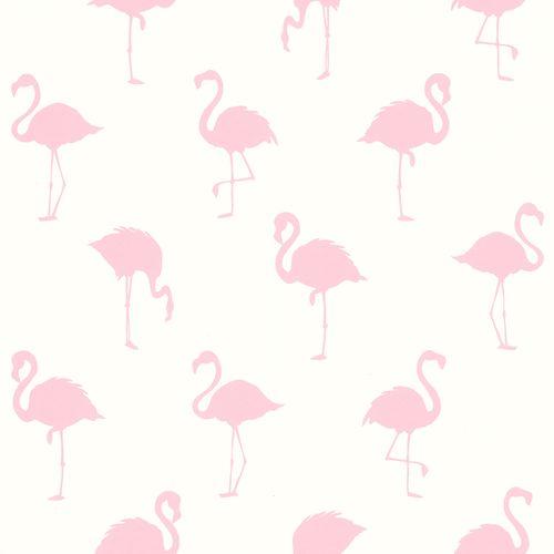 Vliestapete Silhouette Flamingo weiß rosa 038992 online kaufen