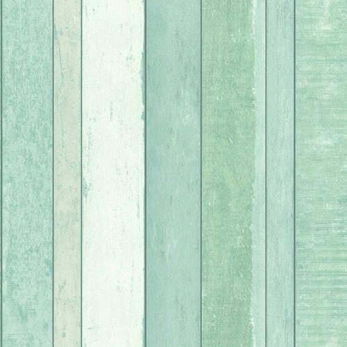 Non-Woven Wallpaper Wood Pop Art green white 138983 online kaufen