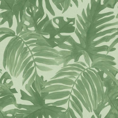 Non-Woven Wallpaper Palm Leaves Textile grey green 138990 online kaufen