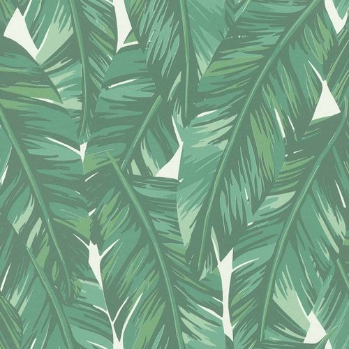 Non-Woven Wallpaper Leaves Drawing green white 139014 online kaufen