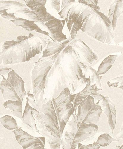Vliestapete Palmwedel Blätter creme beige 296036