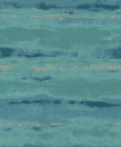 Non-Woven Wallpaper Aquarelle turquoise Metallic 296074 online kaufen