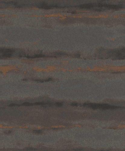 Vliestapete Aquarell braun kupfer Metallic 296111